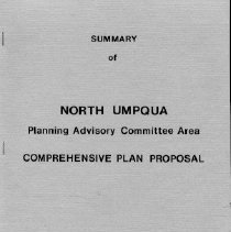 Image of maps  REMARKS:Summary document describing land-use plan for the North Umpqua area. Includes text and maps. - report