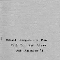 Image of Oakland Comprehensive Plan