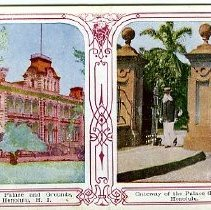 Image of Gateway of the Palace Grounds, Honolulu
