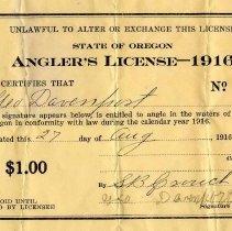 Image of Fishing license