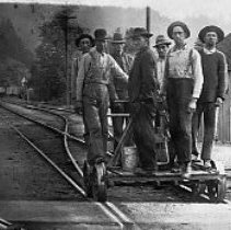 Image of Railroad section gang, Drain, OR