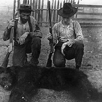 Image of N10956 - REMARKS:Jacob P. Denn Jr., at left and Louis Rommel at right, Camas Valley, Or. 1904. Rommel came to hunt big game, Denn was the guide.