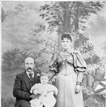 Image of N11018 - REMARKS:Daniel and Laura Campbell and son Don, 1896.