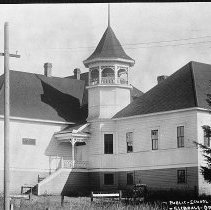 Image of N12032 - REMARKS:The public school at Glendale, Oregon, during the early 1900s.  OBJECT DATE:early 1900s