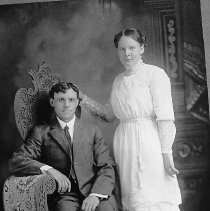 Image of N12160 - REMARKS:Arthur and Edith Madison Mode, wedding picture.