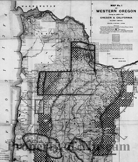 N12919 - COUNT:2 REMARKS:Map of Western Oregon, showing the lands of ...