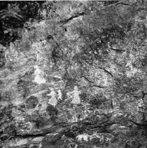 Image of Soda Springs cave wall pictographs