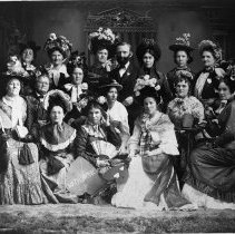 Image of N1305 - REMARKS:Group of Roseburg ladies in a charade or light entertainment. ca. 1890