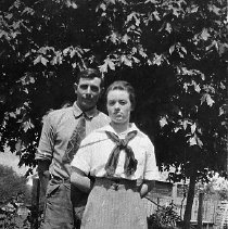Image of N13361 - REMARKS:Adolph and Florence Doerner, ca. 1916. They lived northwest of Roseburg, OR.  OBJECT DATE:ca. 1916