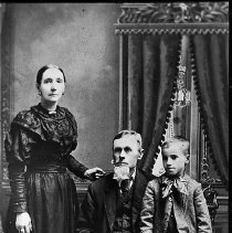 Image of N13635 - REMARKS:Frazier Ward and wife Mary Anne Flournoy Ward (Polly Anne) and son George, ca. 1890.  OBJECT DATE:ca. 1890