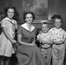 Image of N14776 - REMARKS:The Robert Reid family, in home. Portrait, ca 1950s.