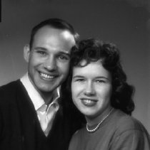 Image of N14869 - REMARKS:Mr. and Mrs. Duke Ricketts, 1781 Ferry Street, Eugene, OR. Portrait; June, 1959.  OBJECT DATE:June, 1959
