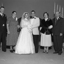 Image of N15122 - REMARKS:Gurney and Judd at their wedding, with their parents. Ca 1950s.  OBJECT DATE:ca 1950s