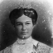 Image of N15801 - REMARKS:Winnifred Pearl Mathews Atterbury, ca 1880s?. Charcoal portrait.  OBJECT DATE:ca 1880s