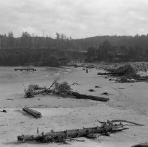 Image of N16501 - REMARKS:View of Winchester Bay after the flood of Dec. 23, 1964.  OBJECT DATE:December 1964