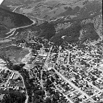 Image of N16629 - REMARKS:Aerial view of Myrtle Creek, OR, July 2, 1973.  OBJECT DATE:July 2,1973