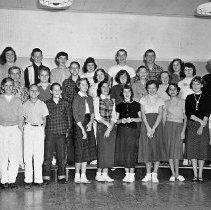 Image of Central Jr. High students, ca 1953