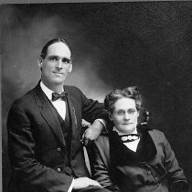 Image of N17080 - Ralph Lane and his mother Ida B. Lane taken about 1915.  Roseburg, Oregon.