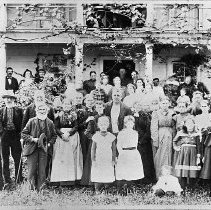 Image of N1994 - REMARKS:Group of friends and neighbors, Lucy Applegate's 70th birthday, in front of Charles Applegate house.