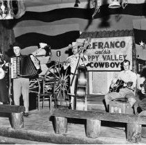 Image of N2295 - REMARKS:Lou Franco and his Happy Valley Cowboys. Local combo that played for dances, 1940s. Roseburg and vicinity.