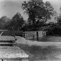 Image of N2299 - REMARKS:Dam below bridge. May be Winchester?  OBJECT DATE:ca. 1890