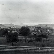 Image of N2493 - REMARKS:View from Chadwick St., Roseburg. Looking west across old Catholic Church property.