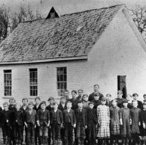 Image of N2675 - REMARKS:School and class, 1880's, Webfoot, Yamhill Co., Oregon.