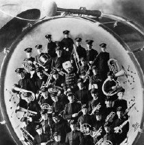 Image of N3415 - REMARKS:Roseburg Municipal Band; montage on drum head.