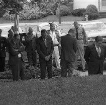 Image of N35.119 - REMARKS:Dedication of Veteran's memorial at the Veteran's Administration Building, ca. 1971.  OBJECT DATE:May 31, 1971