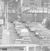 Image of N35.320 - REMARKS:Traffic at train intersection on Oake Avenue, Roseburg, OR.  OBJECT DATE:June 4, 1974