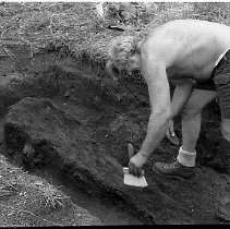 Image of N35.398 - REMARKS:An Indian dig site near Reedsport, OR.  OBJECT DATE:July 22, 1975