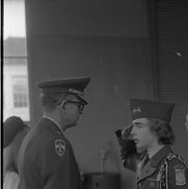 Image of N35.439 - REMARKS:Junior ROTC squads drilling.  OBJECT DATE:October 28, 1975