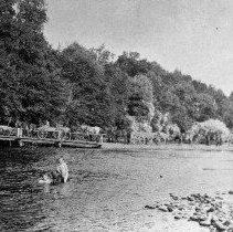 Image of Wagons corssing causeway