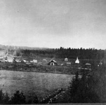 Image of N4076 - REMARKS:Early view of Newberg, Yamhill Co., Or. looking south from hill above First Street. ca. 1889-90 ?