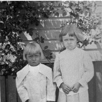 Image of N4632 - REMARKS:Elwood & Delaine Strader, as young children, ca. 1905-06.