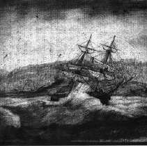 Image of N5282P - REMARKS:Sketch from Lyman's journal: Wreck of the ORCHILLA, Friday, November 14, 1851.  OBJECT DATE:Nov. 14, 1851