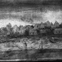 Image of N5282R - REMARKS:Sketch from Lyman's journal: Umpqua City, OR, 1851.
