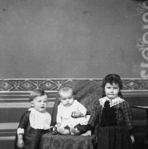 Image of N5676 - REMARKS:Watson children; left to right: Ellis, Bertha, and Lena.