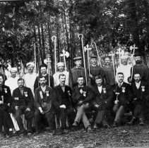 Image of N6454 - A fraternal organization at Riddle, Oregon, ca. 1890s.