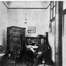 Image of N673 - REMARKS:Judge Oliver Perry Coshow in his Roseburg law office.