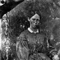 "Image of N6790 - REMARKS:""Aunt Rene"" Irene Applegate (?). Small tintype. Duplicate #6812."