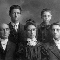 Image of N7984 - REMARKS:Rev. Allen, wife and three sons. He was the pastor of the Roseburg Methodist Church, South. Rev. Allen performed the wedding ceremony for William L. Cobb, Sr. and Candace Amanda Dillard on January 24, 1898.