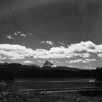 Image of N8022 - REMARKS:View of Lemolo Reservior, Lemolo, Or. showing dam, Mt. Thielsen, etc.