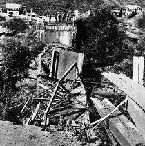 Image of N8041 - REMARKS:View of the collapsed bridge at Kellogg, Or. 1961.