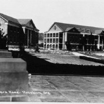 Image of N8454 - REMARKS:View of U.S. Veterans Hospital, Roseburg, Or. View looks north at post exchange building and ward.