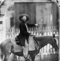 Image of N911 - REMARKS:Pioneer horseman. From an ambrotype.
