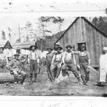 Image of N98 - REMARKS:Rock Creek logging camp and crew. ca. 1914