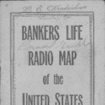 Image of paper, map, insurance, advertisement  REMARKS:mileage log and map from Bankers Life Company signed by Bernard Grubbe  INSCRIPTION:WE hendricksen Roseburg, Oregon Bernard Grubbe - map, pad