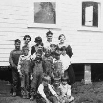 Image of N7131 - REMARKS:District 83, Otter Slough School; teacher and pupils, ca. 1920s.