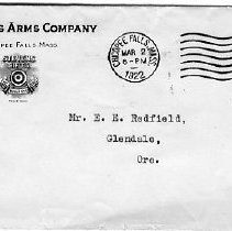 Image of Envelope J. Stevens Arms